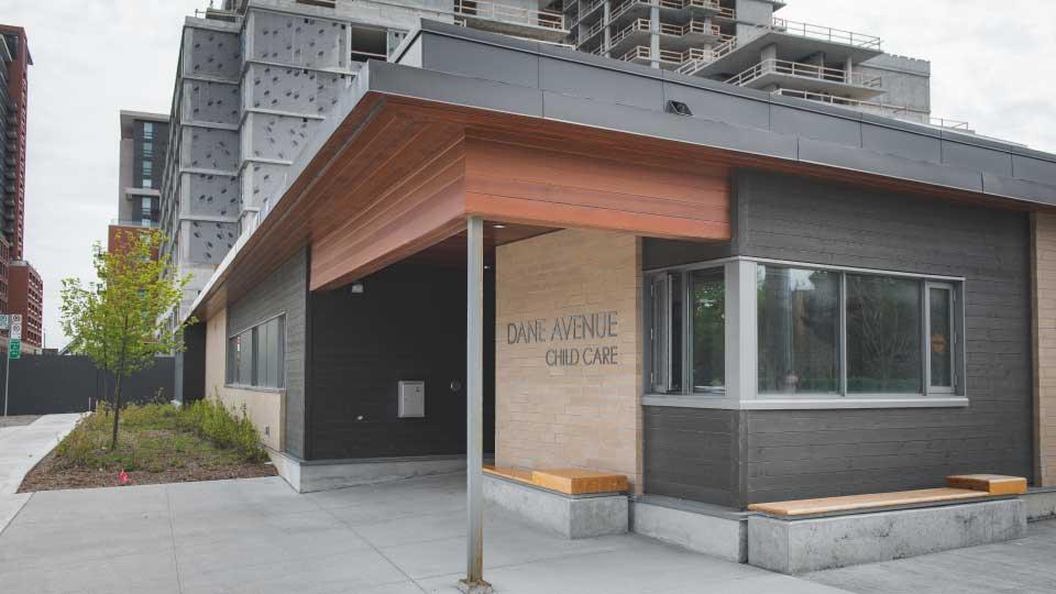 The exterior of the Dane Avenue Child Care Centre