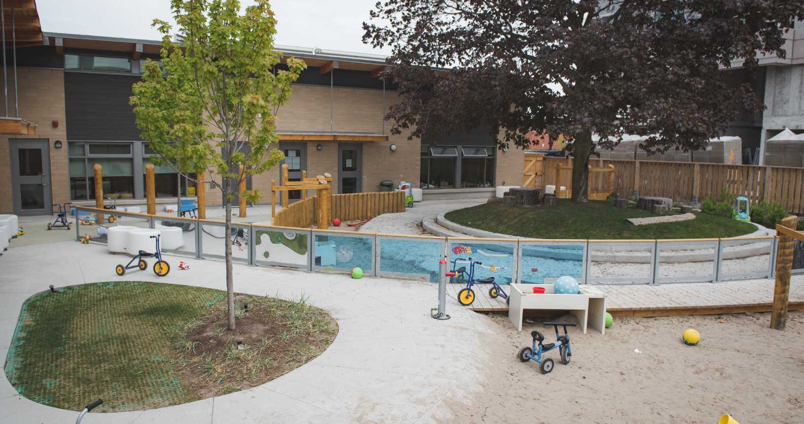 An exterior shot of the playground at Dane Avenue
