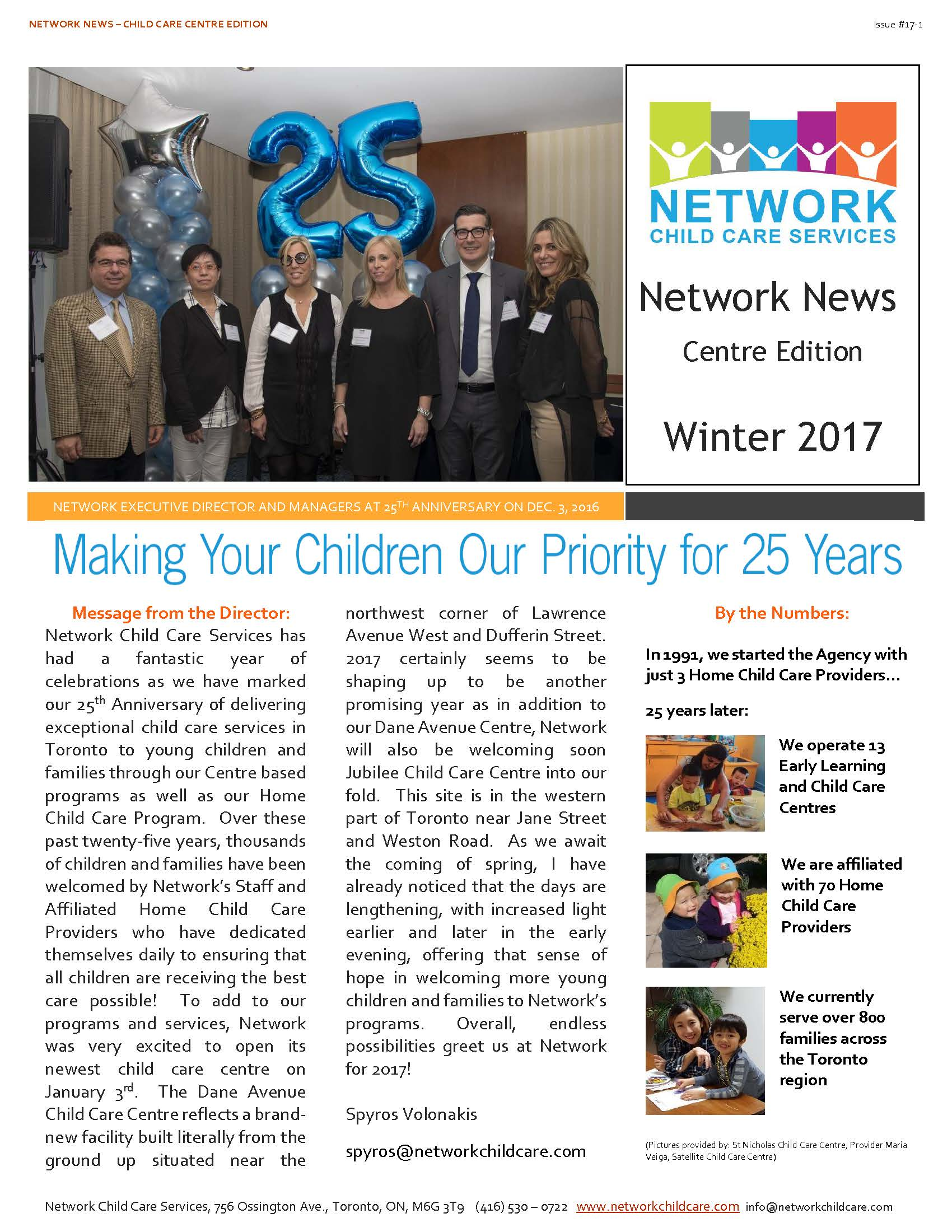 Network Child Care Newsletter - CCC - 17-1